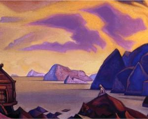 waiting - Nicholas Roerich,  Wikiprints.org